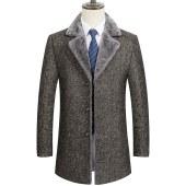 冬季风衣男士中款韩版休闲羊毛呢子大衣毛呢FSCPM910