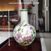景德镇重工珐琅彩(玉堂富贵)天球瓶