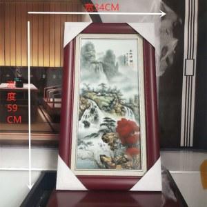 景德镇大师(金秋神韻)瓷板画