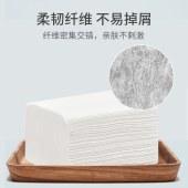 蓝漂竹浆白色抽纸