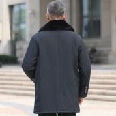 中年男士棉衣中老年休闲棉服中长款棉袄M189