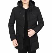 冬季男士加厚棉衣外套中长款连帽棉服RZD9918
