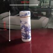 景德镇青蓝彩山水(保温茶杯)
