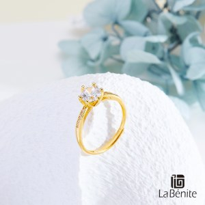 Labenite 足金镶嵌戒指