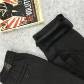 牧马城 男士一体绒裤子卫裤松紧腰加绒加厚宽松运动裤冬季外穿7130