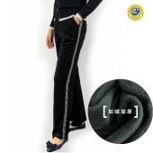 玛克玛索S2021加绒加厚银条丝绒裤