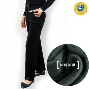 玛克玛索S2022加绒加厚丝绒阔腿裤
