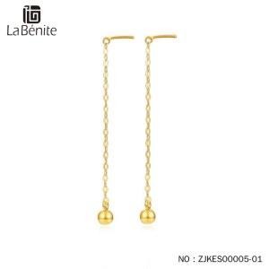 Labenite 18K黄泡泡耳线