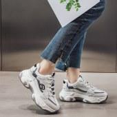 老爹鞋女真皮厚底运动鞋2020春季新款潮流网红智熏鞋时尚ins潮鞋