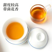 湖南安化国津黑茶道地手筑金花茯砖茶5年陈料380g正品黑茶