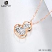 Labenite 18K红车花钻石葫芦套链