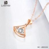 Labenite 18K红车花钻石小裙子套链
