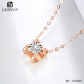 Labenite 18K红牛头车花钻石套链