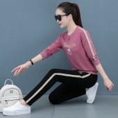 2021款【富丁王】女士休闲运动纯棉套装FS2208