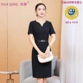 韩版通勒V领时尚气质收腰显瘦修身一步裙8118