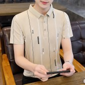 短袖T恤男2021夏季新品舒适中青年休闲8119
