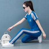 女夏季运动纯棉套装透气吸汗时尚潮FS2067-2069