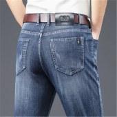 太子龙春季牛仔裤宽松直筒裤潮流韩版休闲弹力CH2021
