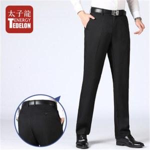 太子龙春夏款宽松直筒商务男士休闲长裤CH820