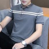2021夏款纯棉时尚男士短袖POLO衫-BYFT158