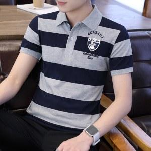 2021夏款纯棉商务男短袖POLO衫-DQC1616