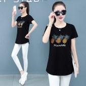 短袖t恤女短袖T恤2021年夏新款大码上衣T257