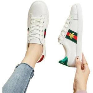 江歌真皮小白鞋