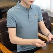 2021夏款纯棉刺绣男商务短袖POLO衫8831
