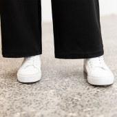 女时尚拼接阔腿裤8012款