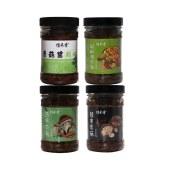 信禾香双菇酱200g*4豉味双菇 辣爽香菇 原味香菇 剁椒鸡肉菇