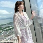 防晒衣女薄款2021夏季新款小个子白色外套防晒衫