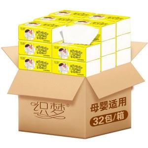 织梦木浆32包抽纸面巾四层16