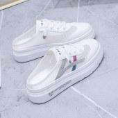 韩版百搭橡胶镂空厚底凉鞋小白鞋