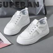 新款板鞋女透气网面小白鞋女