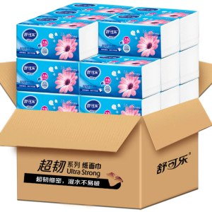 舒可乐24包超大包抽纸原木浆纸巾051