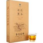 国津安化黑茶茯砖黑茶湖南安化茯茶700g金花茶特制正品茯砖茶