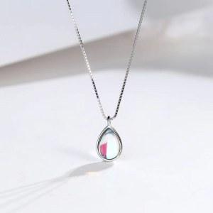 祝福者 925银渐变水滴项链五彩水晶项链ZDZ065