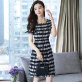新款女装春装时尚正式场合成熟女人味流行夏季连衣裙雪纺8565
