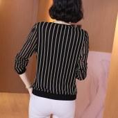 2021春季大码网纱长袖上衣中年妈妈显瘦打底衫衬衫T恤小衫女9131