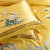 100%桑蚕丝真丝丝绸四件套