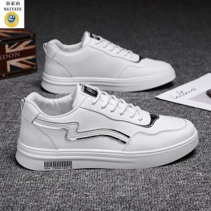 奈亚冶 男士圆头运动小白鞋子2061