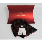 凯妍时尚 100%羊毛百搭英伦条纹格子围巾披肩