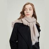 凯妍时尚 100%纯山羊绒薄款披肩 男女士通用