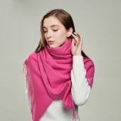 凯妍时尚 100%羊毛素色披肩