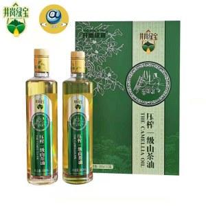 压榨一级山茶油500ML*2瓶