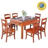 家具家居实木整屋定制方形圆型现代中式原木餐桌椅组合