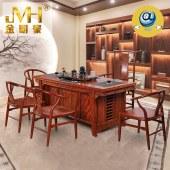 家具家居原木全屋定制巴西花梨木现代中式雕刻办公功夫茶桌