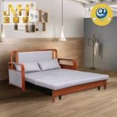 金明豪实木家具全屋定制原木可折叠两用多功能客厅沙发床