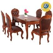 实木家具家居全屋定制原木西欧简约式饭桌餐椅套装