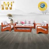 金明豪家具家居实木全屋定制原木新中式现代别墅客厅组合沙发